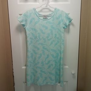 Lilly Pulitzer Turquoise Seahorse T-shirt Dress